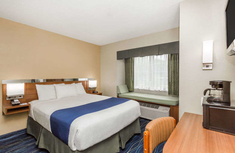 Guest room at Microtel Inn & Suites of Gulf Shores.