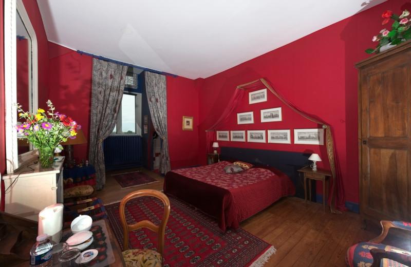 Guest room at Chateau du Boisrenault.