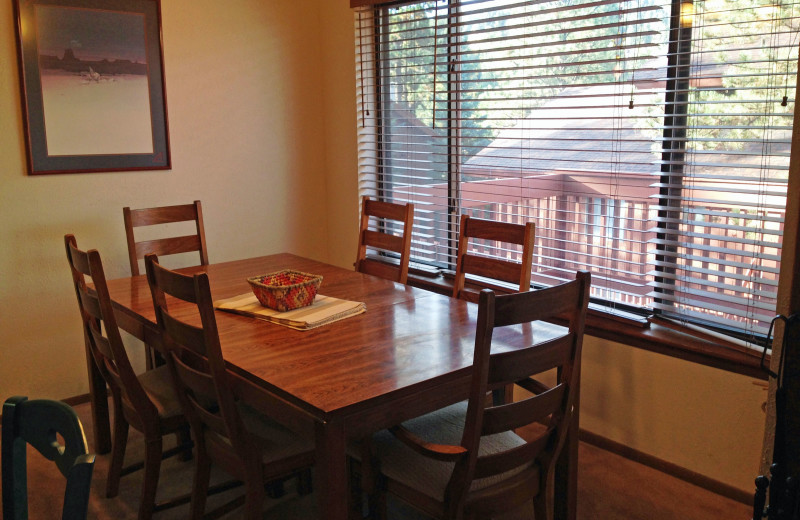 Rental dining area at Resort Properties of Angel Fire.