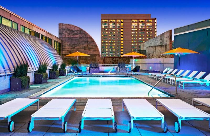 Outdoor pool at San Jose Marriott.