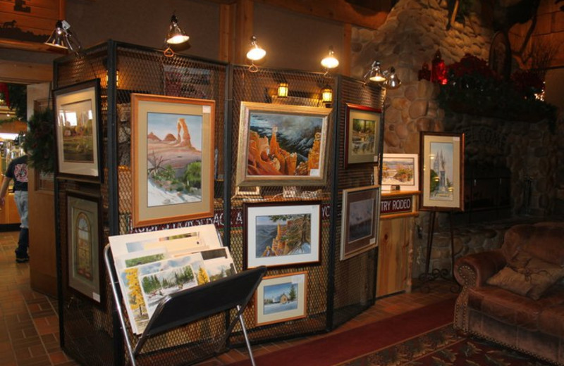 Art gallery at Best Western Bryce Canyon Grand Hotel.