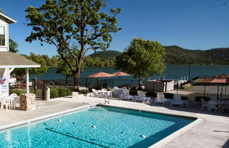 Outdoor pool at Clear Lake Cottages & Marina.