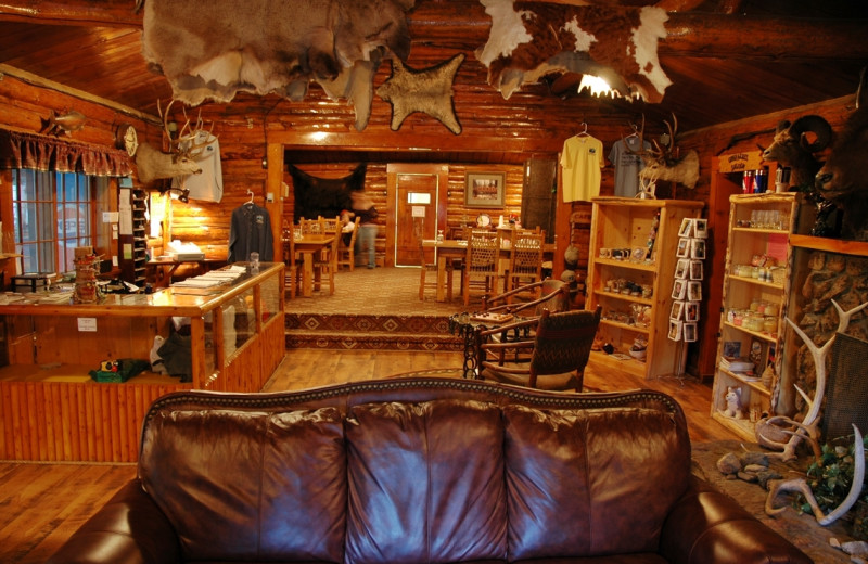 Gift shop and restaurant at Absaroka Mountain Lodge.