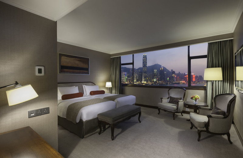 Guest room at Marco Polo in Hong Kong.