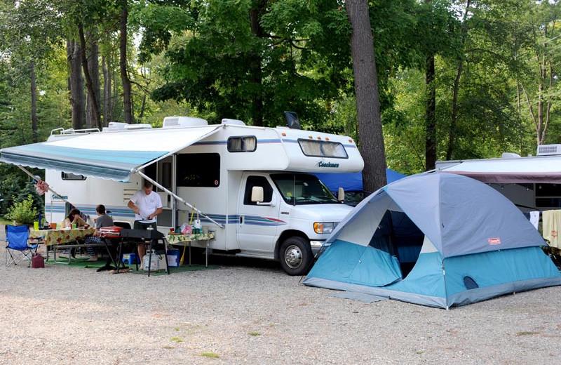 Camping at Lake George RV Park.
