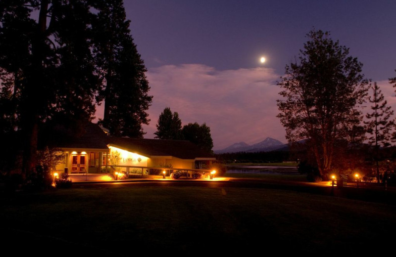 Night view at Black Butte Ranch.