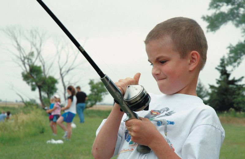 Fishing at Dream Catcher Point Resort.