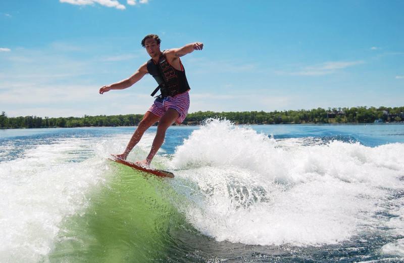 Water skiing at Madden's on Gull Lake.