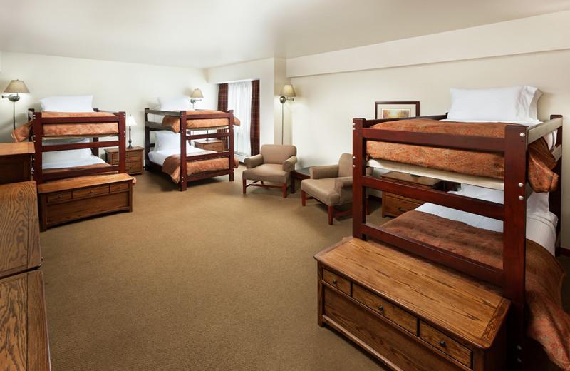 Guest room at Alta's Rustler Lodge.