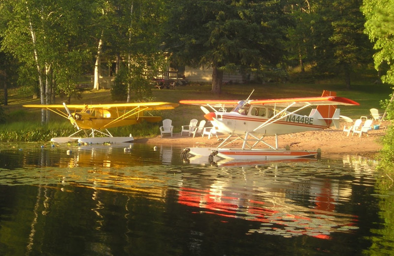 Sea planes at Golden Rule Resort.