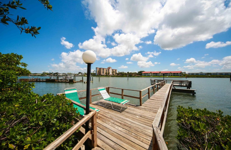 Rental dock at Plumlee Gulf Beach Realty.