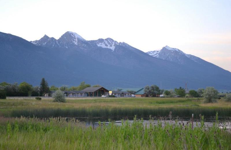 Beautiful mountains near Ninepipes Lodge.