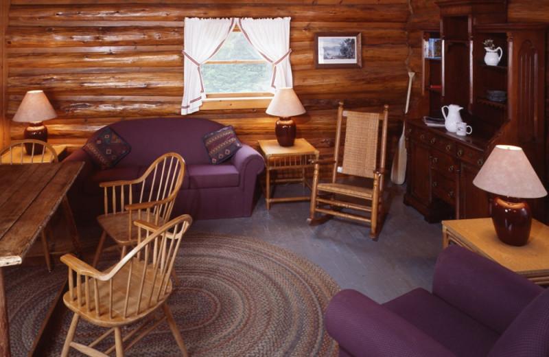 Emerson Lodge living room at Elk Lake Lodge.