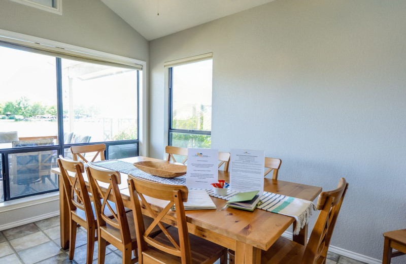 Rental dining room at Splash Time Vacation Home.
