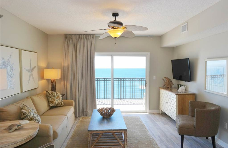 Rental living room at Gulf Shores Rentals.