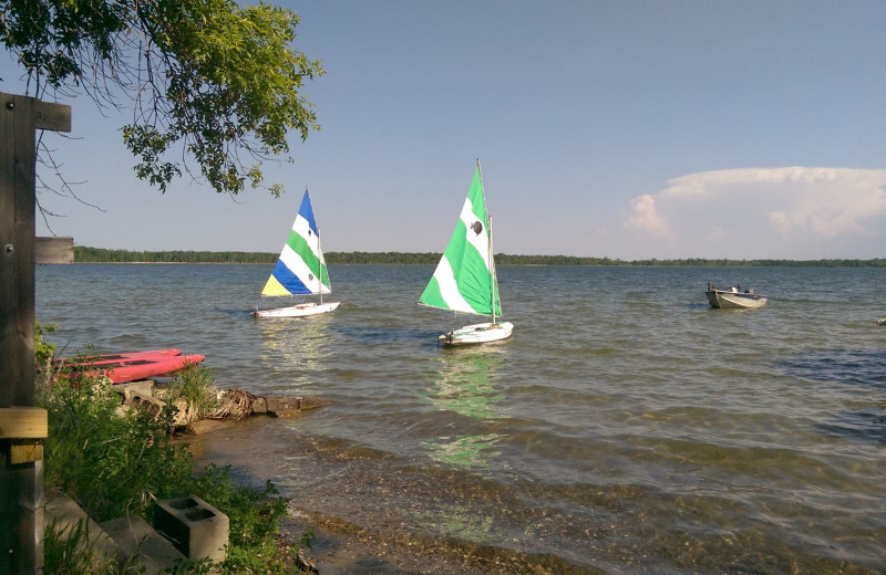 Lake view at Woodlawn Resort.