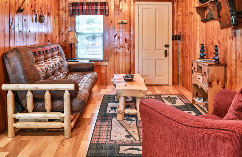 Rental living room at Hiller Vacation Homes.