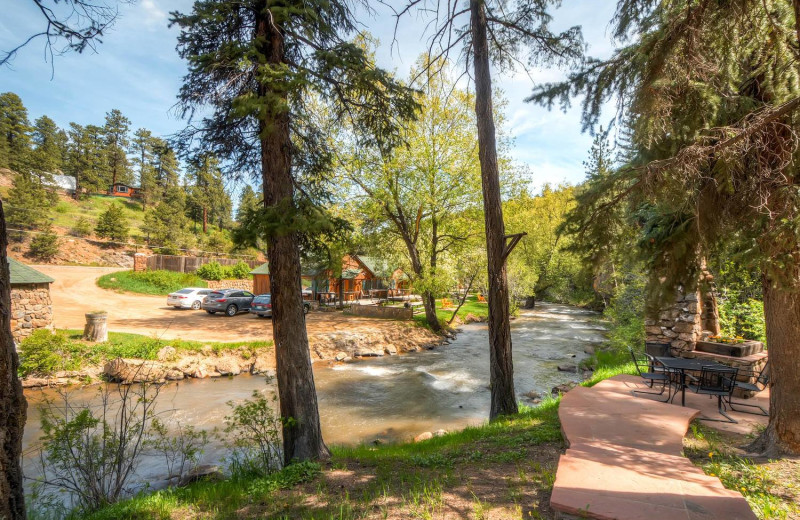 River view at Colorado Bear Creek Cabins.