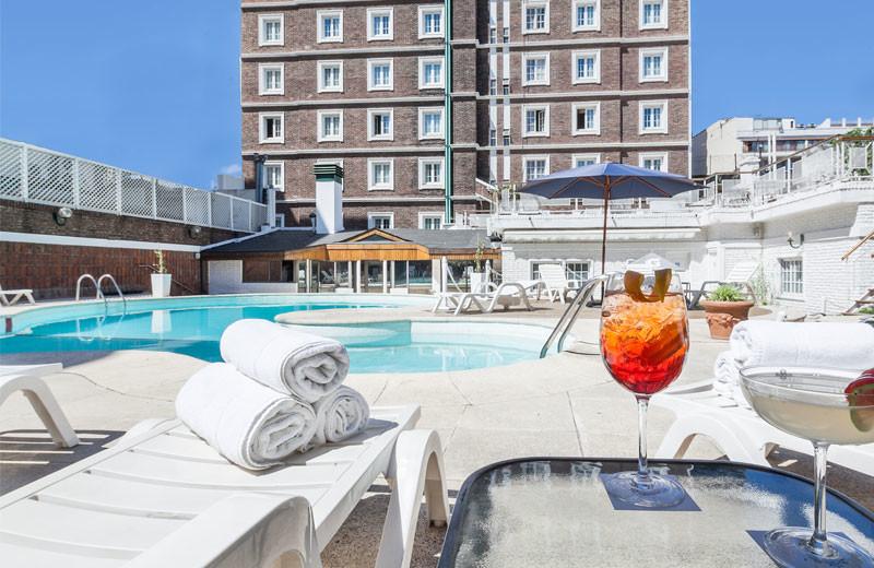 Outdoor pool at Claridge Hotel.