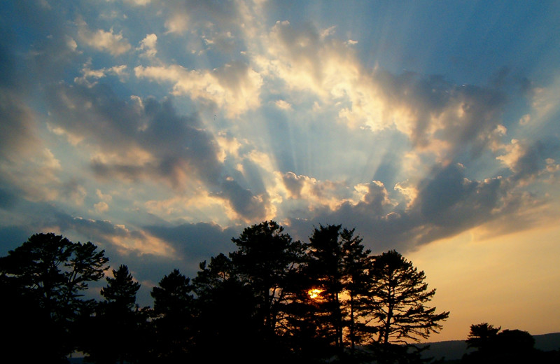 Sunrise at Capon Springs.