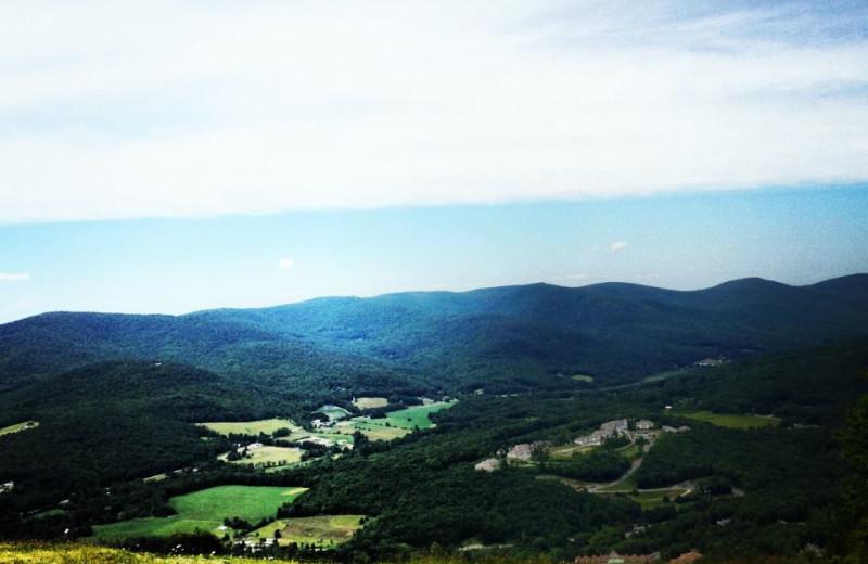 Aerial View of Jiminy Peak Mountain Resort.