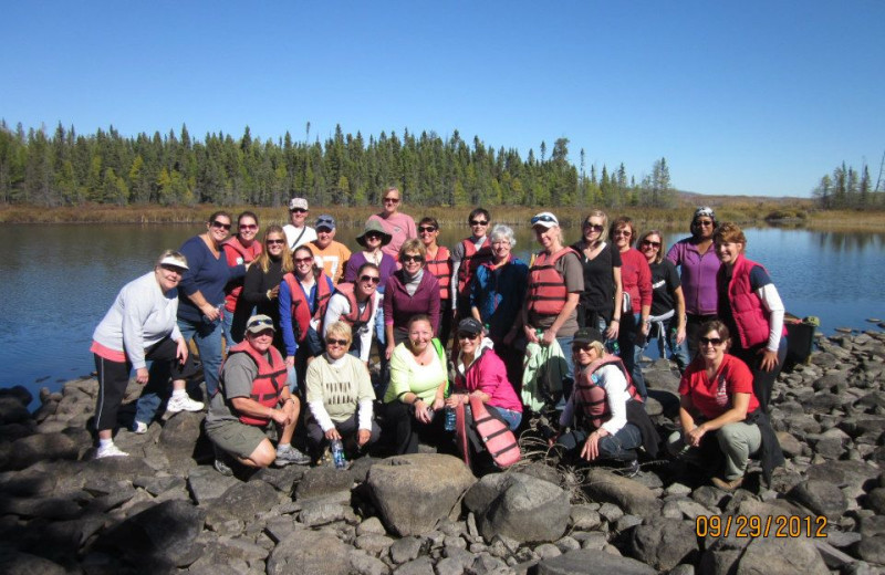 Group at Gunflint Lodge.