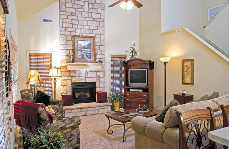 Rental living room at Stonebridge Resort.
