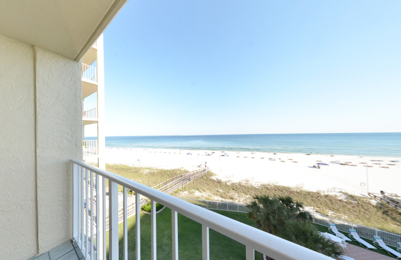 Rental balcony at Coastal Properties.
