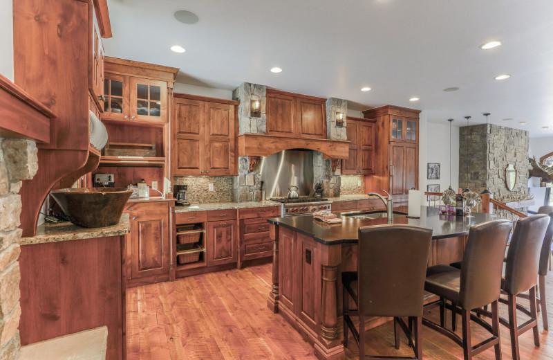 Rental kitchen at Access Winter Park Lodging.
