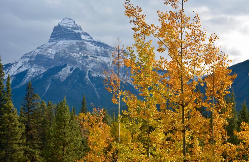Mountains at Johnston Canyon Resort.