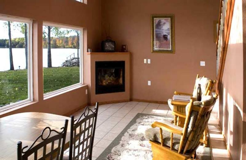 Cabin interior at Brophy Lake Resort.