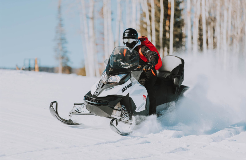 Snowmobiling at Fireside Resort at Jackson Hole.