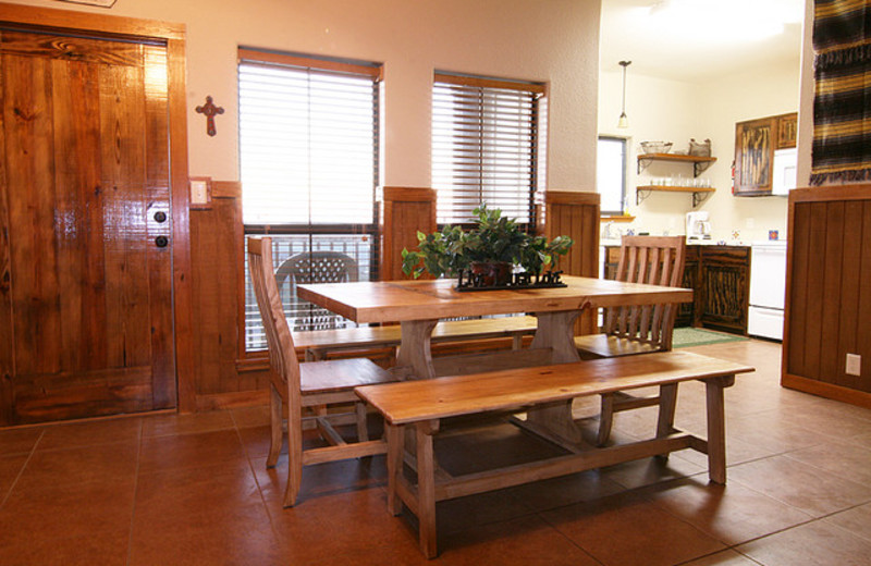 Condo dining room at Neal's Lodges.