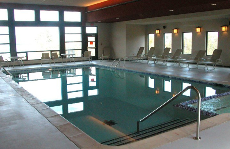 Indoor pool at Kewadin Casino Lakefront Inn.