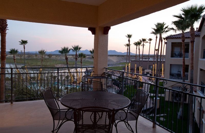 Private Patio Overlooking Pool at Wyndham Ranch Resort