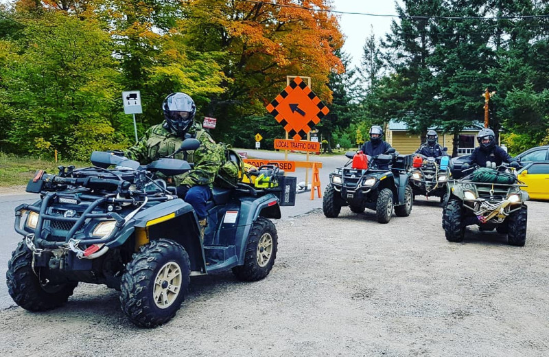 ATV at Parkway Cottage Resort & Trading Post.