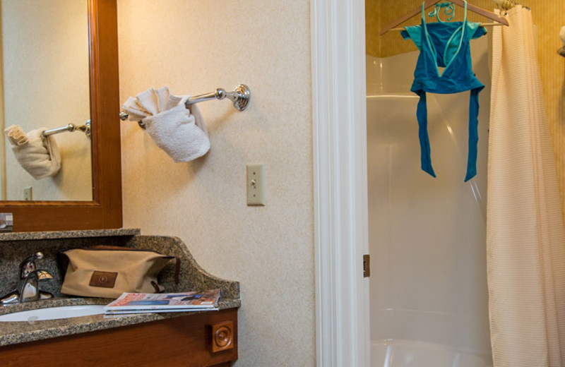 Guest bathroom at The Meadowmere Resort.