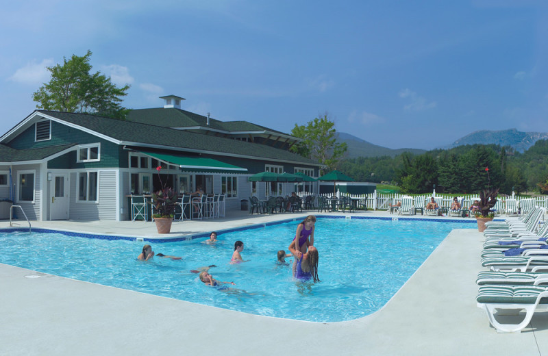 Outdoor pool at Stoweflake Mountain Resort & Spa.