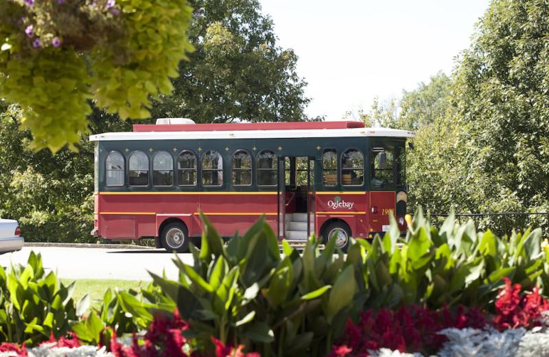 Trolley at Oglebay Resort and Conference Center.