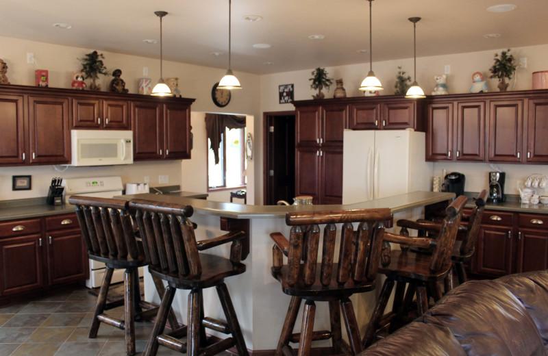 Guest kitchen at Nitschke's Northern Resort.