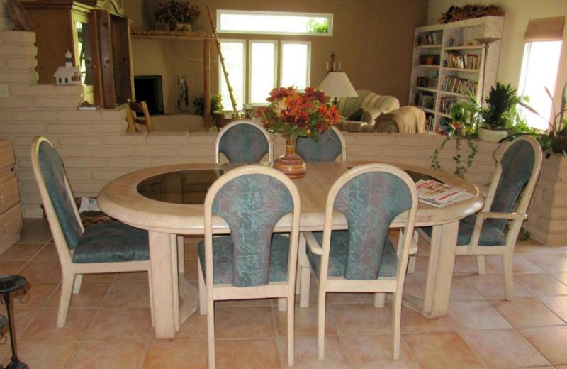 Dining room at Sarabande Bed & Breakfast.