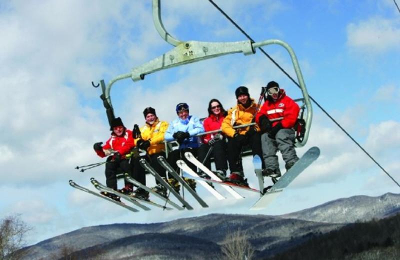 Skiers at Jiminy Peak Mountain Resort.