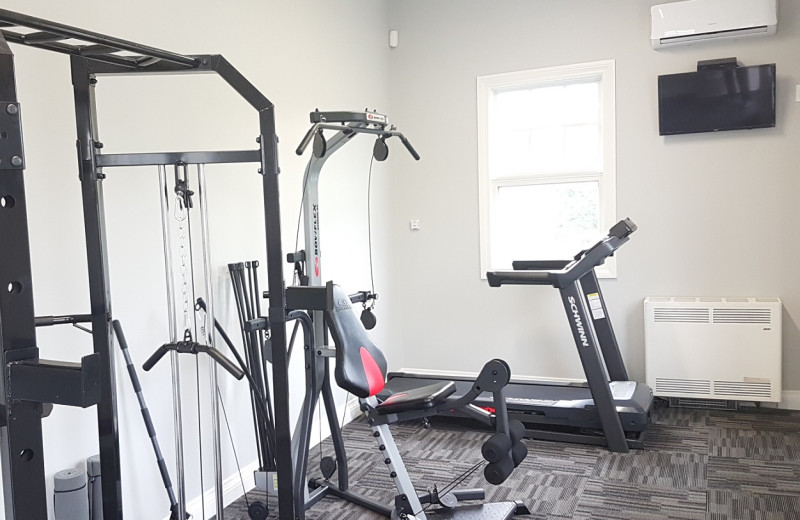 Fitness room at Rawley Resort.