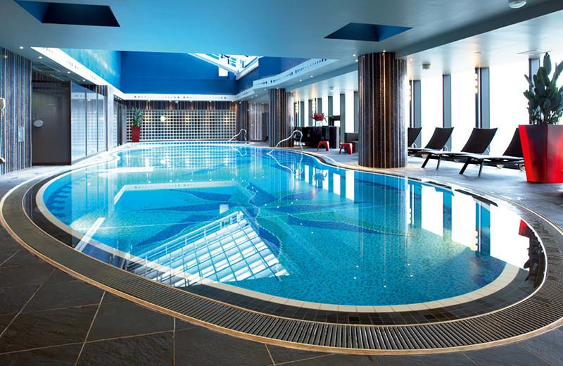 Indoor pool at The Yokohama Bay Hotel Tokyu.