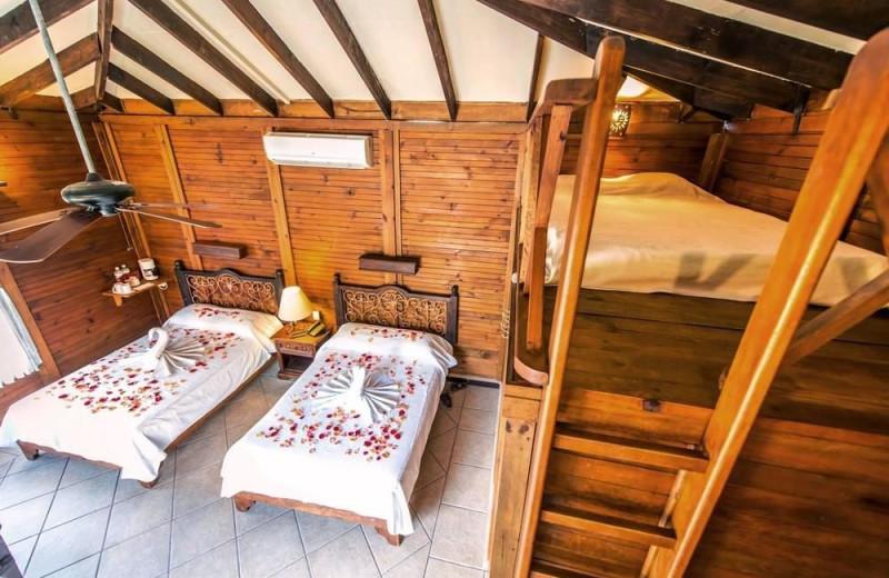 Guest room at La Posada del Capitan Lafitte.