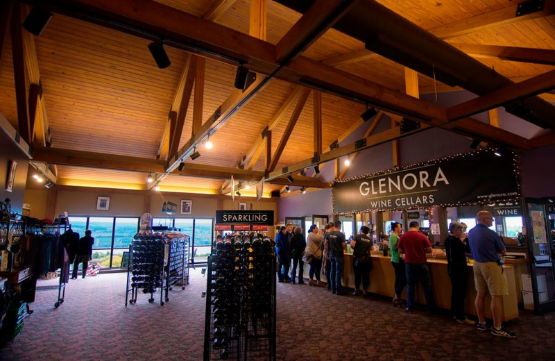 Interior view of Inn at Glenora Wine Cellars.