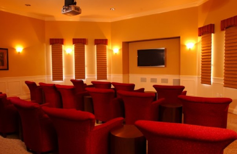 Movie room at Vista Cay Resort.