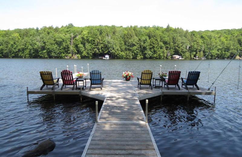 Rental dock at All-Season Cottage Rentals.