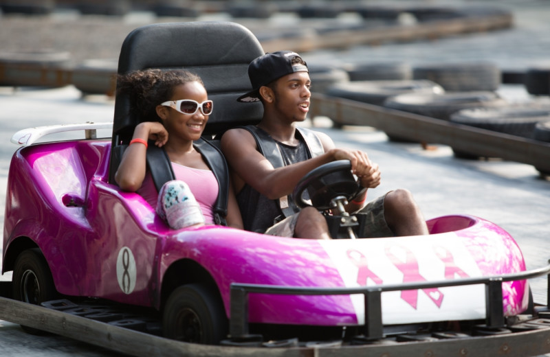 Go karts at Woodloch Resort.