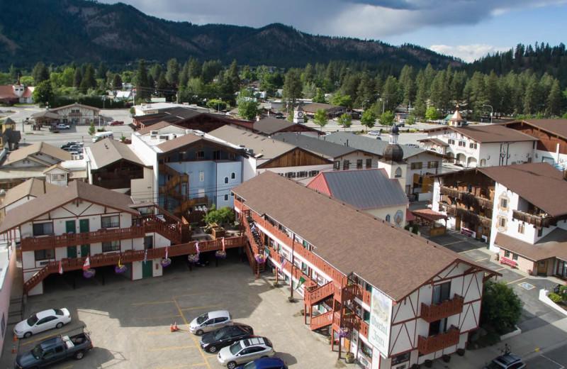 Aerial view of Obertal Inn & Vacation Rentals.